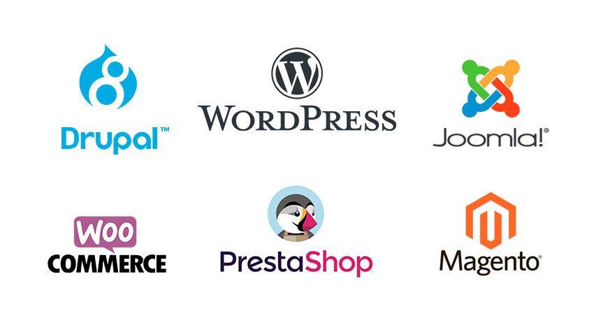 CMS PHP, Drupa, WordPress, Prestashop, Magento, Joomla